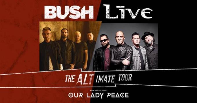 Live, Bush & Our Lady Peace at Bayfront Park Amphitheater