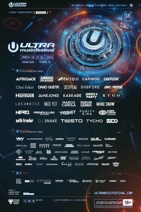Ultra Music Festival - Sunday at Bayfront Park Amphitheater
