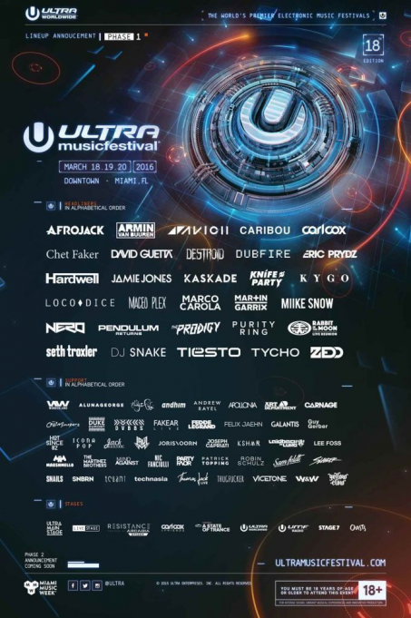 Ultra Music Festival - 3 Day Pass at Bayfront Park Amphitheater